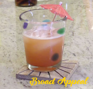 Melissa Fassel Dunn makes a Rum Punch cocktail on Broad Appeal