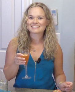 Melissa Fassel Dunn makes a harvest mimosa cocktail on Broad Appeal
